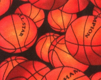 Basketball Fleece by David Textiles by the Yard