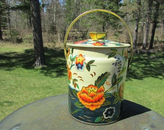 Murray Allen Candy Floral Tin Vintage Waterflower