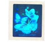 Rare Vintage 80's HALLMARK Stickers ~ HOLOGRAPHIC Butterflies Dandelions Flowers