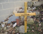 Memorial Burial Cross Personalized w/ Name. Made to Order