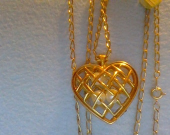 32inch long Heartnecklace
