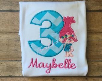 Poppy inspired birthday shirt. Pick your number