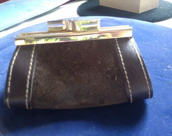 Brown Suede Coin Purse from Germany