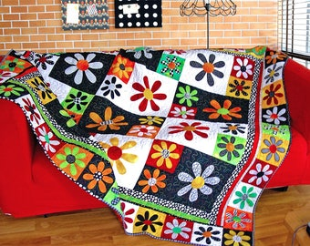 CITRUS BLOSSOMS | pdf Quilt Pattern | Patterns | Quilt Patterns | Floral Quilts | Flowers | Applique Quilts | Happy Quilts | Modern Quilts |