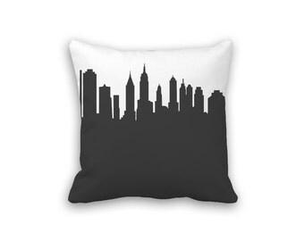 New York City Pillow - 14x14 - Skyline Silhouette - Throw Pillow