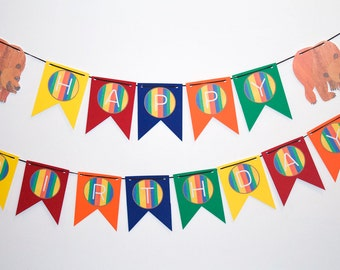 Brown Bear Brown Bear What Do You See Birthday Party Banner - Birthday Party Decor - Brown Bear Party Banner - Kids Party Decor