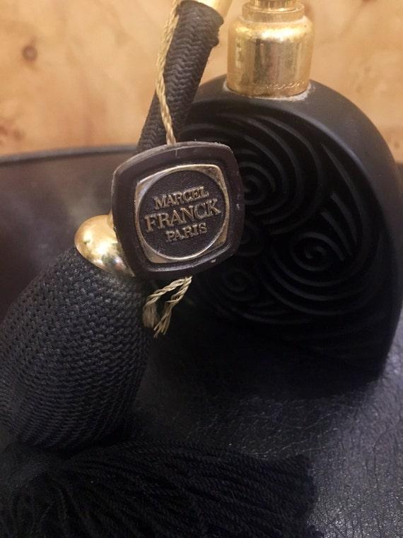Vintage 1960s Black Glass Perfume Atomizer by Marcel Franck