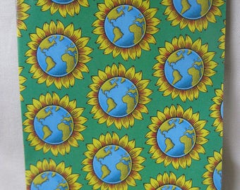 Vintage NINETIES Earth and Sunflower Wrapping Paper