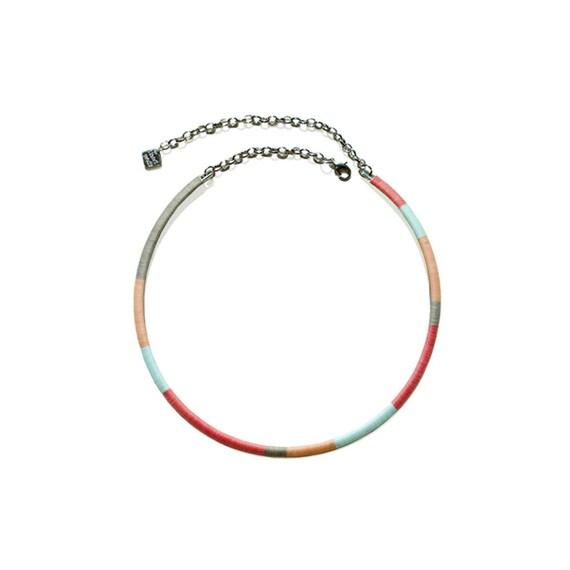 Color Block Hoop Necklace - Pastel