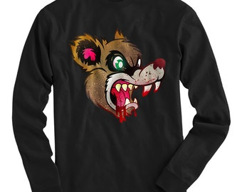 LS Were Bear Tee - Long Sleeve T-shirt - Men S M L XL 2x 3x 4x - Bear Shirt, Horror Shirt, Teddy Bear Tee, Bloody, Cartoon, Scary - 3 Colors