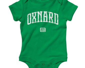 Baby One Piece - Oxnard 805 California - Infant Romper - NB 6m 12m 18m 24m - Baby Shower Gift, College, Area Code Baby, Oxnard Baby, Cali