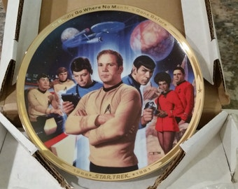 Star Trek 25th Anniversary Commemorative Plate