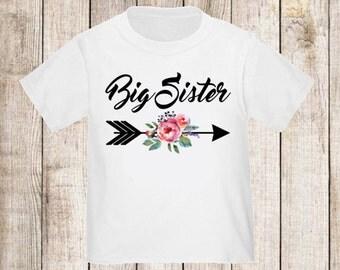 Baby Announcement Shirt; Sibling Shirt; Family Pictures; New Baby Announcement Shirt; Big Sister Announcement Shirt; Big Sister Shirt; Arrow
