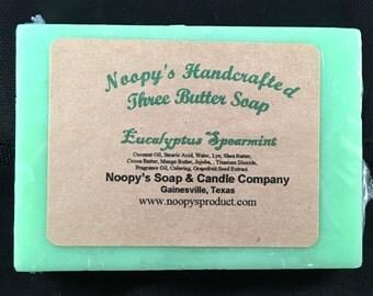 NOOPY'S Shea, Cocoa, & Mango Butters-Soap-U Pic-Eucalyptus Spearmint-Lavender Peppermint-Pink Grapefruit-FREE SH