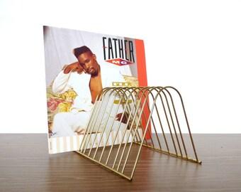 Brass Album Rack Vinyl LP Music CD Retro Disc
