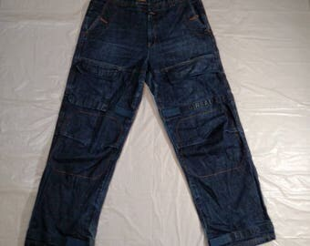 MARITHE FRANCOIS GIRBAUD Denim Jeans Men Size 36M Medium Wash Tape Cotton