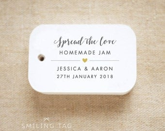 Spread the Love Personalized Gift Tags Wedding Favor Tags Thank you tags - Set of 24 (Item code: J655)