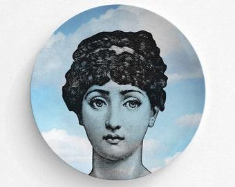 Lina Cavalieri Melamine Plate, Melamine Plate, lina cavalieri decorative plate, Dinner Plate, Serving Plate