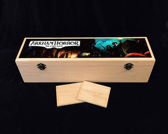 Arkham Horror Imaged  Deck Box with Hinges & 2 Latches-16 3/4x4 1/2 x4 1/4- Photo Imaged Box- Arkham Horror the card game