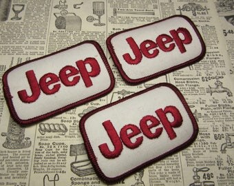 Vintage JEEP Patch Automobile Car Truck Price per (1) Patch Off Road Wrangler Cherokee Mechanic Work Shirt Uniform Hot Rod Jacket Coat