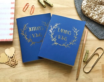 Customized Wedding Vow Books (Set of 2)