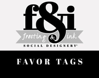 Favor Tags | Printable Favor Tag | A la Carte Favor Tag | Frosting & Ink