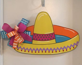Cinco De Mayo Door Hanger, Sombrero Door Hanger, Fiesta, Taco Party, Summer Door Hanger, Mexican Decor
