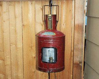 Antique Fuel Can Lamp Butler Mfg Man Cave Farmhouse Decor