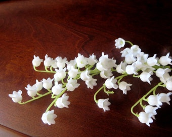 Lily of the valley hair vine- 2nd anniversary gift - Bridal Bouquet, wedding lily comb- flower arrangement  -Wedding Boutonniere