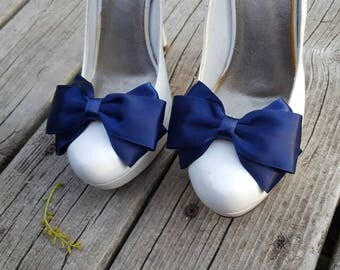 Navy Blue Shoe Clips, Bridal Shoe Clips, Wedding Shoe Clips, Shoe Clips,  Wedding Accessories, Bridal Accessories, Clips for Wedding Shoes