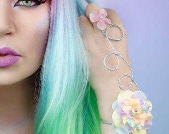 Rainbow unicorn arm cuffs - set of 2