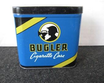 Vintage Collectible 1/2 size Bugler Tobacco Tin