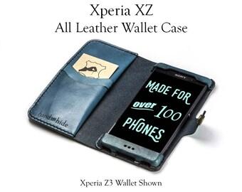 Xperia XZs Leather Wallet Case / Xperia XZ Wallet Phone Case / Xperia XZ Leather Phone Case / Sony Xperia Case / Leather Xperia XZ