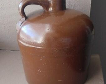 Brown Jug- pottery jug- Brown crock