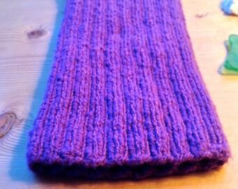 "Medium ""Plum"" PICC Line / IV Cover (Armband), purple, violet, bright, cheerful, intravenous, chemo, lyme, TPN, hand knit, cotton, elastic"