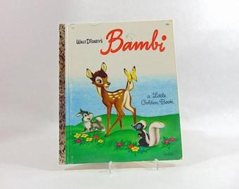 1940s, Bambi, Disney, Walt Disney, Golden Books, Childrens Books, Childrens Book Art, Vintage Books, Disney Books