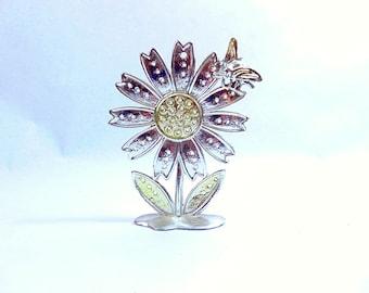 1970s, Earrings, Earring Storage, Earring Organizer, Earring Stand, Earring Tree, Flower Decor, Flower Decorations, Honey Bee