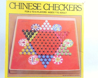 1980s, Vintage Games, Board Games, Board Game Decor, Chinese Checkers, Whitman, Vintage Board Game, Family Game Night, Chinese Checker Board