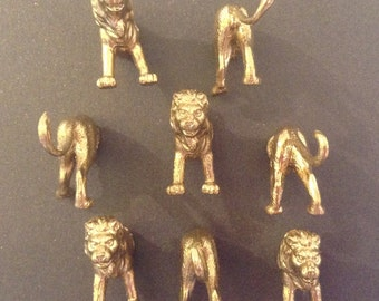 4 lion magnets  place card ,photo, memo holders