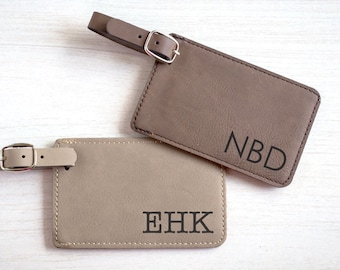 Personalized Luggage Tag: Custom Engraved Luggage Tag, Monogrammed Luggage Tag, Monogram Luggage Tag, Groomsmen luggage tags, SHIPS FAST