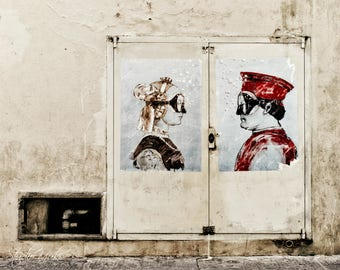 Street Art, Florence, Art Print, Travel Photography, Urban Art, Neutral Colors, Modern, Contemporary Art, Large Wall Art, Italy, Portrait