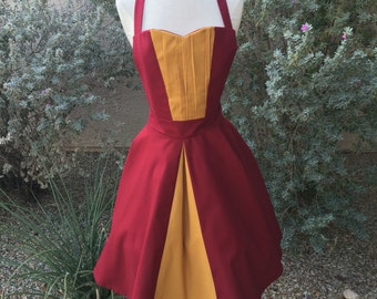 Belle Holiday costume apron dress