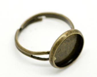 5 Ring Bases -  Settings  - Holds 12mm -  Adjustable - COPPER Material - Ships IMMEDIATELY  from California - A552