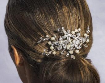 Bridal Hair Comb, Bridal Hairpiece, Hair Vine, Bridal Halo, Bridal Headpiece, Freshwater Pearl Bridal Comb, Bridal Hair Comb