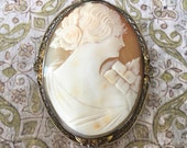 Lovely Antique Carved Shell Cameo-As Is But So Beautiful