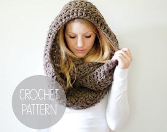 crochet pattern - oversized infinity scarf crochet pattern - the Dakota