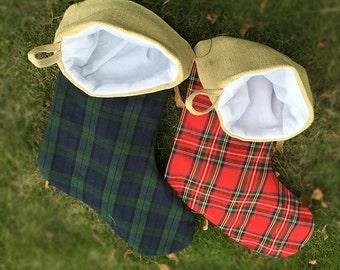 christmas stockings christmas stockings burlap and plaid stockings monogrammed stockings - Monogrammed Christmas Stockings