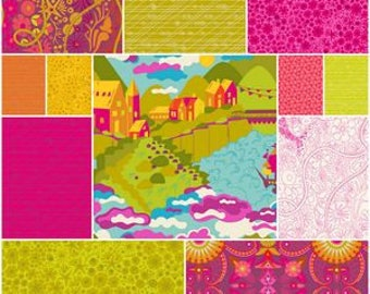 PRESALE - Diving Board - Half Yard Bundle in Warm - Alison Glass for Andover - AGDB-HYW - 12 prints
