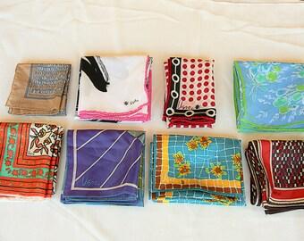 Vintage Vera Neumann Scarf Lot of 8 Designer Scarves