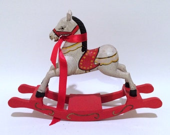 Handcrafted Wood Rocking Horse Toy
